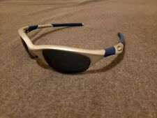 Oakley Half Jacket 1.0 Silver w/ ice iridium lenses Sunglasses Very Rare