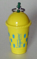 STARBUCKS FRAPPUCCINO yellow keychain mini cup NWT new unused