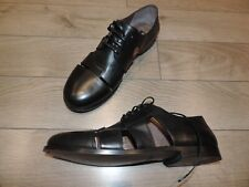 Dolce & Gabbana Black Leather Laceup Shoes Sandals 11 US 44 10