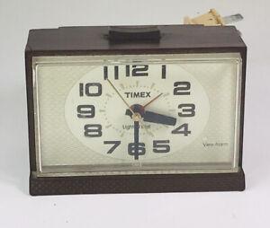 Vintage Timex  Alarm Clock Lighted Dial  WORKS