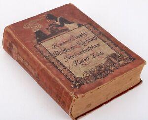 Original Henriette Davidis Praktisches Kochbuch Rudolf Zäch 1911
