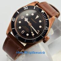 41mm Corgeut Luminous Black Bezel Bronze Case MIYOTA Automatic Men's Watch
