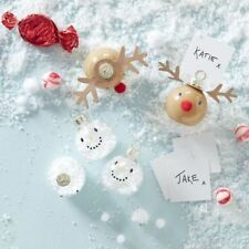 Ginger Ray Snowman Reindeer Bauble Place Card Holder Table Setting Christmas