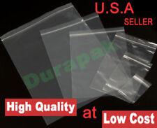 "1000 Pcs 5x8"" Polypropylene Bag 2 Mil Clear Zip Reclosable Lock  Zipper PP Bags"