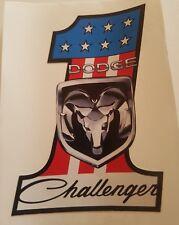 #191 USA FLAG No.1 DODGE CHALLENGER 9,5x7,5 cm AUFKLEBER STICKER AUTOCOLLANT