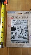 """Hero Arts Basic Grey Herbs & Honey """"Cool as a Cucumber"""" Clear Stamps CL741"""