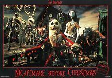 TIM BURTON THE  NIGHTMARE BEFORE CHRISTMAS 1993 VINTAGE LOBBY CARD #8