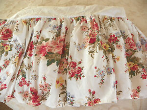 """RALPH LAUREN """"PETTICOAT FLORAL"""" TWIN DUST RUFFLE-NEW-NEVER USED-HARD TO FIND!"""