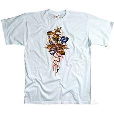 * T-Shirt Hot Rod Rockabilly Skull Pistons Tattoo Garage Tuning *1240