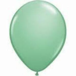 "12 FASHION GREEN LATEX BALLOONS Helium Grade 11"""