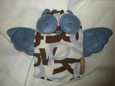 DWELL STUDIO OWL  PLUSH DWELBABY BABY BLUE BROWN HAND  PUPPET