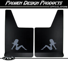 CHEVROLET SILVERADO 1500 Truck Flap Splash Guards, Mud Guards_TRUCKER GIRL_Grey