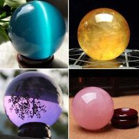 40MM Natural Quartz Magic Gemstone Sphere Crystal Reiki Healing Ball Stone Lot