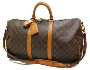 Authentic LOUIS VUITTON  MONOGRAM  KEEPALL 50 DUFFLE BAG VI0943 0415a