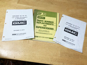 Used 1972 GMC RP-73 Parts Number Replacements and Supersessions