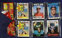 100 TOPPS FLEER DONRUSS BOWMAN BASEBALL CARD LOT 1986 to 1989 ~SEALED WAX PACKS
