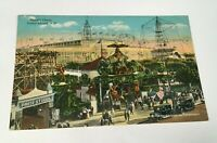 Vintage Postcard Steeplechase Coney Island Brooklyn NY 1920 Unposted