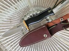 Randall Model 28 Woodsman Knife- black micarta- brass guard- stainless steel.