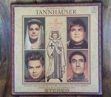 WAGNER TANNHAUSER/KONWITSCHNY ORIG UK EMI ASD 445-448 WHITE AND GOLD