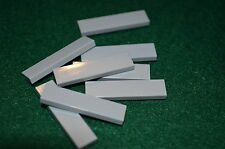 (8) LIGHT GRAY 1x4 Smooth Finishing Tile Brick Bricks  ~ Lego  ~ NEW