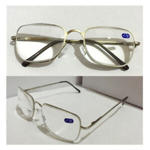 Trendy Reading Glasses +6.5 7.0 7.5 8.0 Optical Lens Black / Silver Metal Frame