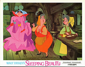 SLEEPING BEAUTY original 11x14 lobby card DISNEY movie poster