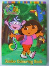 Kids Girls Dora The Explorer A4 Jumbo Colouring Book Hours Of Fun