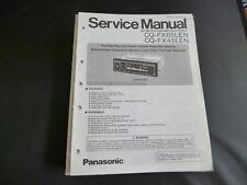 Original Service Manual Panasonic CQ-FX65LEN CQ-FX45LEN