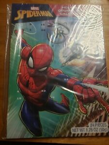 MARVEL SPIDER-MAN Christmas Holiday Countdown Calendar With 24 Chocolates NEW