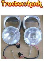 * Massey Ferguson Tractor 135,165 Head Lamp/Light Kit (Plastic Cowls) *