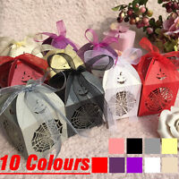25-100X Halloween Cobwebs Laser Cut Candy Gift Wedding Party Favour Boxes