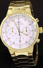 IWC Schaffhausen Aquatimer 18K gold chronograph quartz men's watch