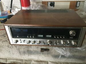SANSUI 9090 Stereo Receiver ( VINTAGE 1975 ) Walnut Case  - Tested Power