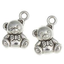 15 x 19mm Tibetan Silver Teddy Bear Charms Pendants Jewellery Beading Q188