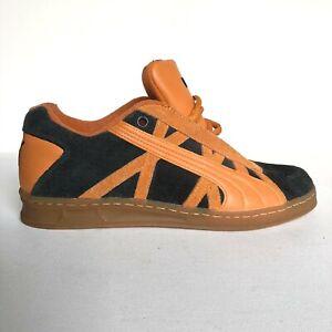 Puma Men's Black and Orange Suede Classic Leader Athletic Sneaker 180153 - Sz 7