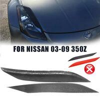 For 03-08 Nissan 350Z Z33 Fairlady Z Coup Headlight Eyelids Eyebrows Cover NEW