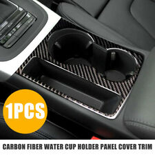 Carbon Fiber Water Cup Holder Panel Cover Trim for Audi A4 A5 Quattro S4 S5 RS5