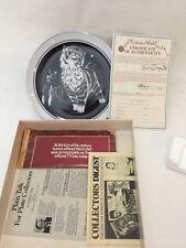 """1980 Purr-fect Pleasure Kittens World Collector Plate, Rudy Droguett Cat, 9 1/4"""""""