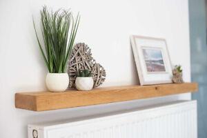 Rustic Wooden Floating Narrow Shelf, Chunky Shelving, Floating, Rustic Shelves