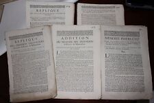 ✒ 1694 MONTAUBAN rare réunion de 7 documents dispute finances officiers election