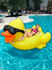 Giant Inflatable Duck Float with Paddle. Duck Lilo Dinghy 200cmx170cm.UK Stock