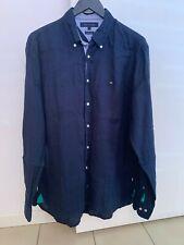 Men's Tommy Hilfiger L/S Button Up Linen Shirt Size: L