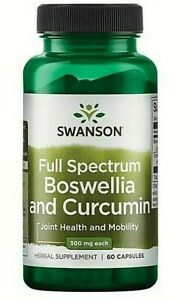 Swanson Boswellia and Curcumin 60 Capsules Joint Health and Mobility