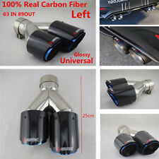 Carbon Fiber Dual Pipe Car SUV Carbon Fiber Exhaust Muffler Left Side 63mm/89mm