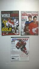 3 Hockey Magazines. World Junior Championships. Olympics. Crosby, Ovechkin, Kane