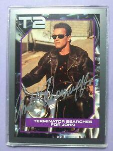 Arnold Schwarzenegger Terminator 2 autographed trading card