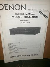 Denon DRA-355  Solid State ReceiverService Manual