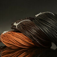 3-5mm Faux Leather Cord Flat Round Rope Finding DIY Craft Multi-color Tools