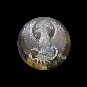 Carved Scorpio Zodiac MOP Pearl CAB GL010021