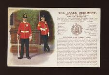 Military ESSEX REGIMENT Battle Honours c1910s? PPC pub Gale & Polden